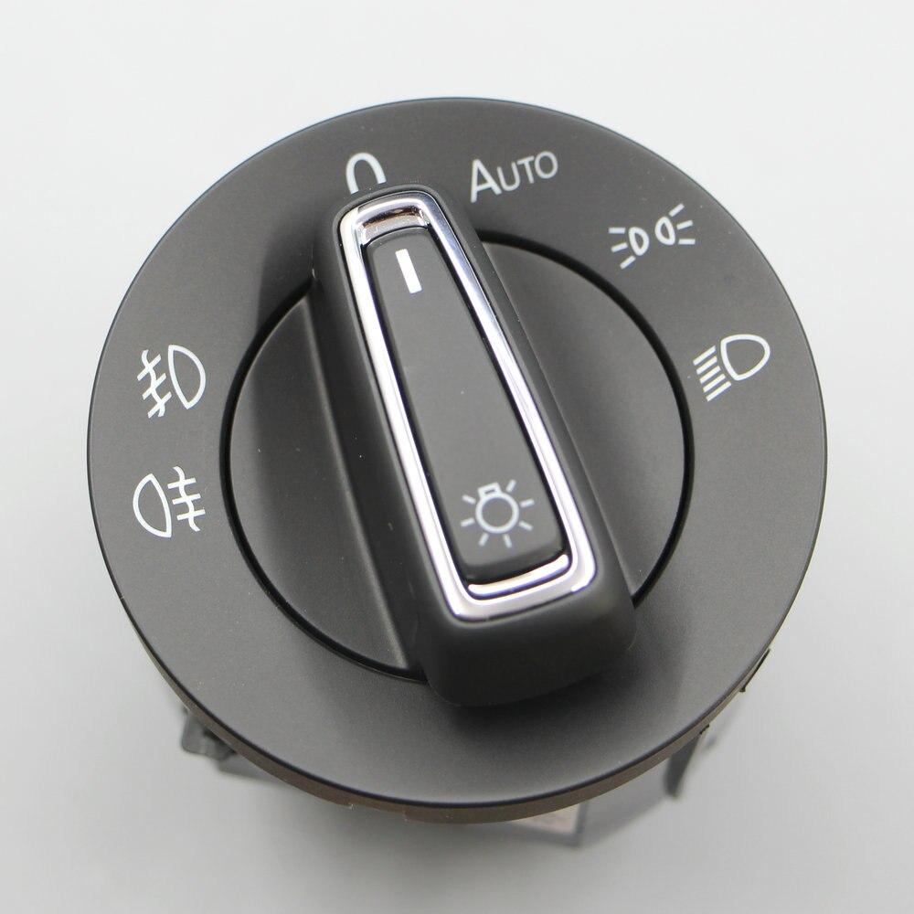 VW Golf 7 MK7 BELHOG TiguanL Touran L Octavia MQB Automático interruptor do farol com interruptor de engrenagem AUTO chromium plating 5GG 941 431 D