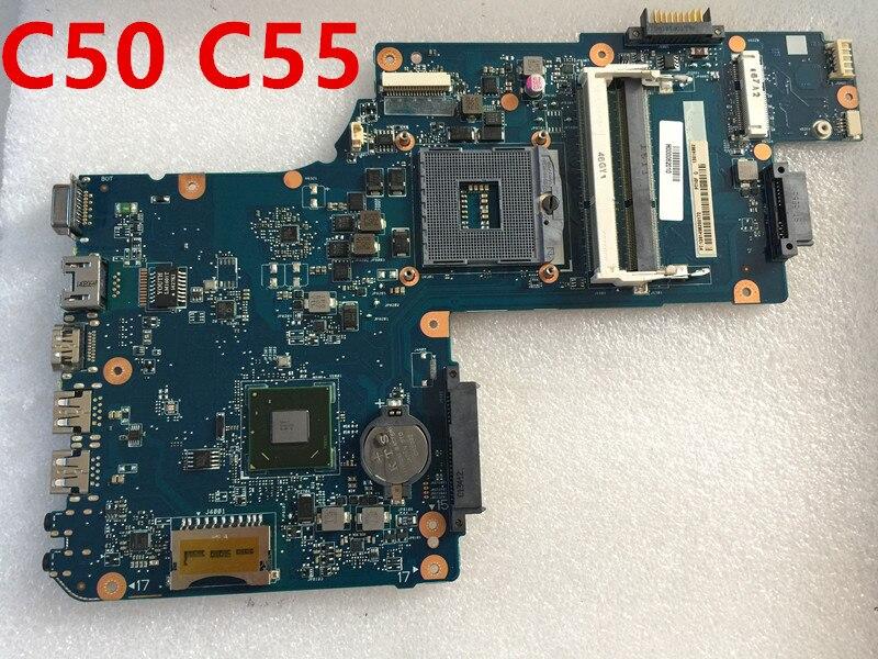 اللوحة الأم الأصلية للكمبيوتر المحمول Toshiba C50 C55 ، pt10f uma mb ، hm77/hm76 H000062010 100%