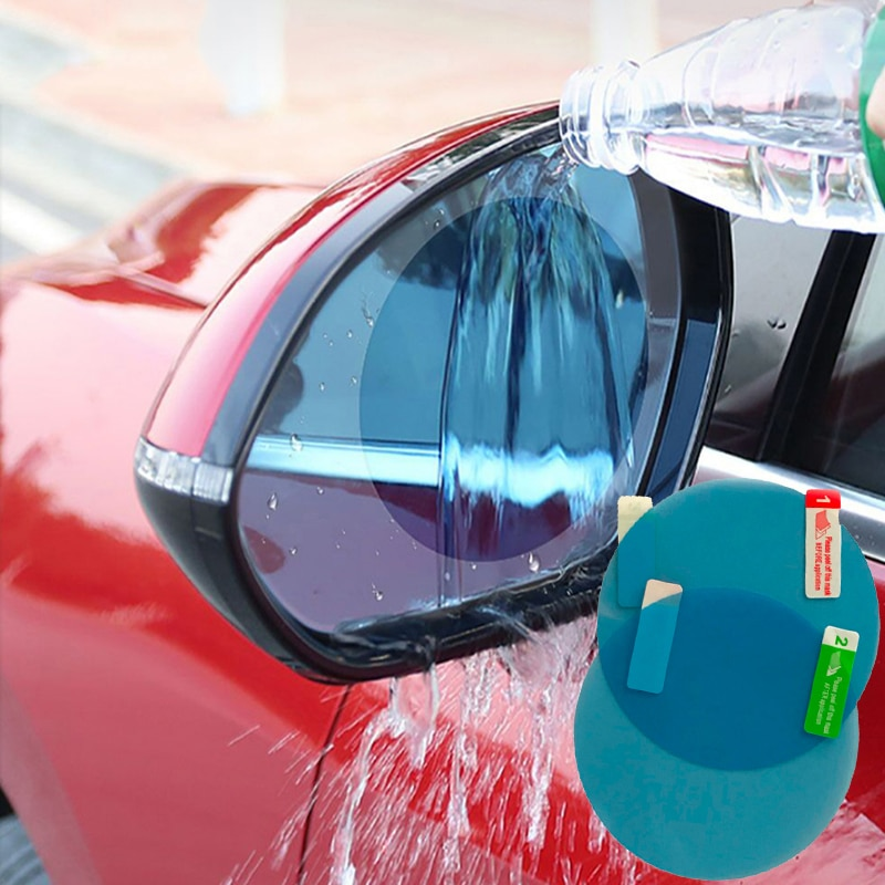 2 uds. Pegatinas de espejo Exterior para coche, espejo retrovisor de motocicleta para el día y la noche, antideslumbrante, eliminador de niebla de lluvia, accesorios para coche