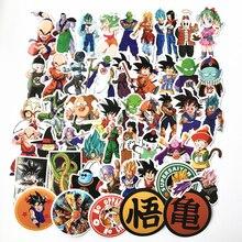 2018 50 sztuk/partia anime dragon ball naklejki super saiyan Goku naklejki kalkomania na Snowboard przechowalnia lodówka samochodowa naklejka na laptopa