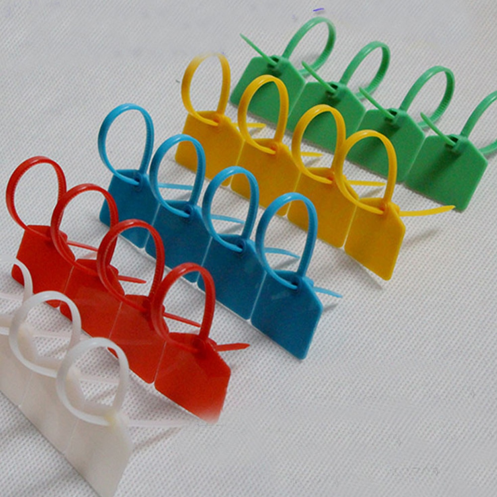 Gratis Nylon PA66 rojo amarillo azul verde 3*160MM señales brida con etiqueta sujetacables de Nylon 100 Uds una bolsa