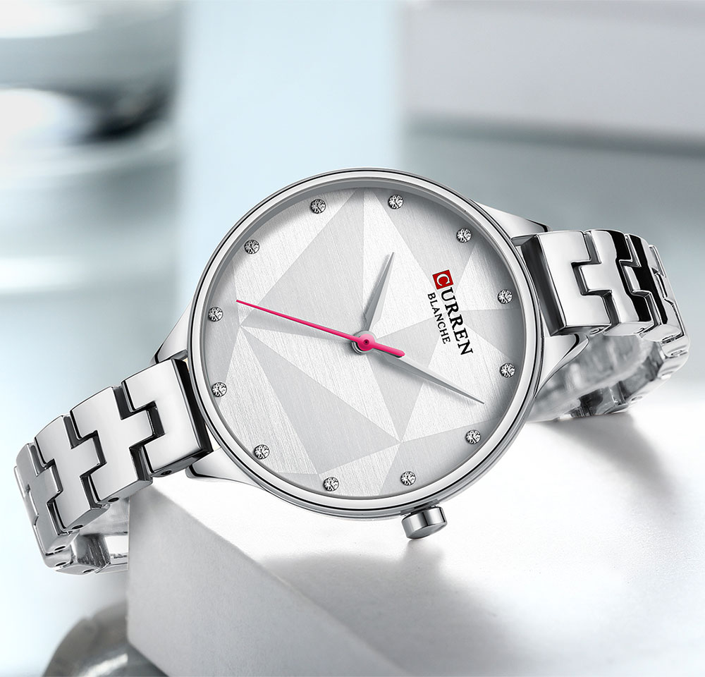CURREN Women Watch Elegant Quartz Silver Slim Dial Crystal Wristwatch Stainless Steel Band Clock Lady Reloj Mujer Gifts For Wife enlarge