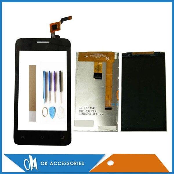 Для Fly FS407 Stratus 6 FS 407, Раздельный ЖК-дисплей с сенсорным экраном, дигитайзер, черный цвет с инструментами, лента