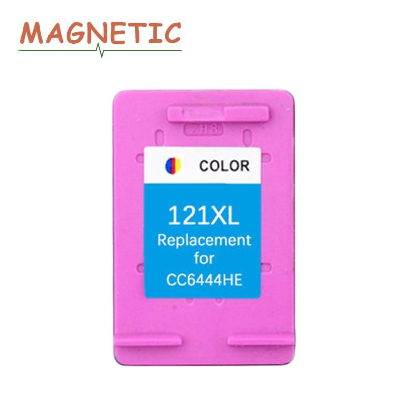 Magnético cartucho de tinta Compatible para hp 121 para hp 121 XL Deskjet serie D2563 D1663 D2663 D5563 F2530 F2545 F2568 C4683 C4783 impresora