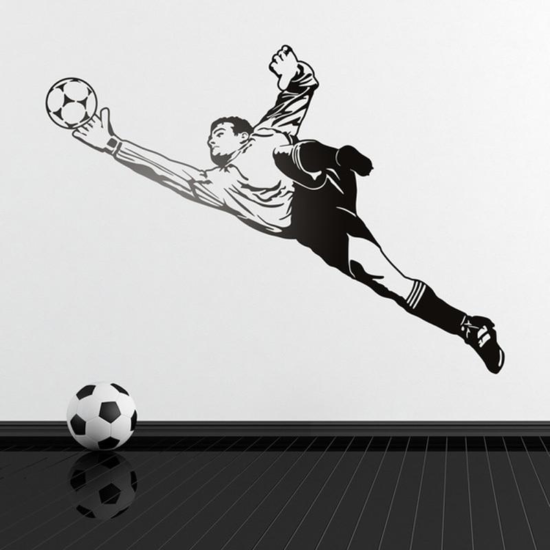 Pegatina de pared fútbol portero regalos para amante del fútbol papel pintado murales DIY vinilo pegatina decoración F868