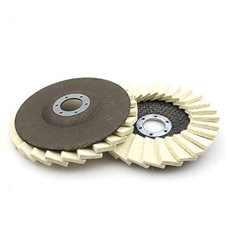 Dam lãs ferramentas abrasivas feltro flap polimento disco para moedor de ângulo para polonês metal vidro ferramentas abrasivas acessórios