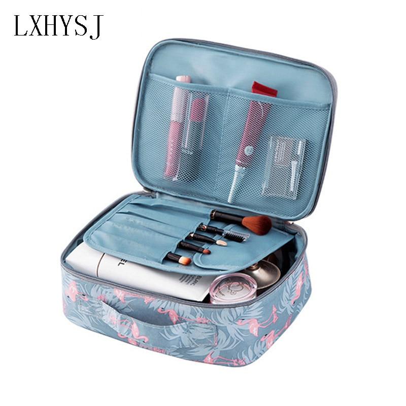 Brand Flamingo Women Makeup Kit Beautician Organizer Cosmetic Bag Travel Portable Large Capacity Toiletry Bag