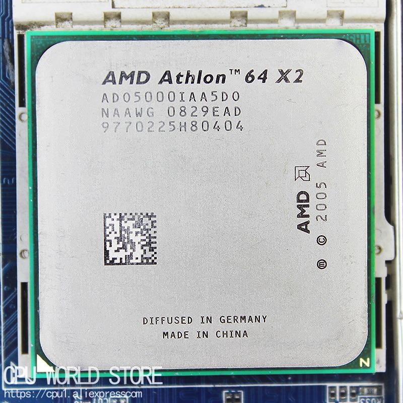 AMD Athlon-procesador de CPU de doble núcleo, 64x2, 5000 +, 2,6 Ghz/...