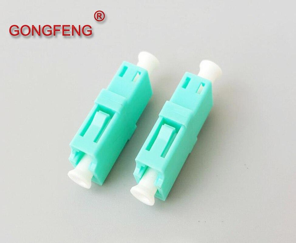 GONGFENG 200 قطعة جديد الألياف البصرية موصل LC Singlemode10 مليون OM3 المقرنة محول شفة متعدد الألوان خاص بالجملة