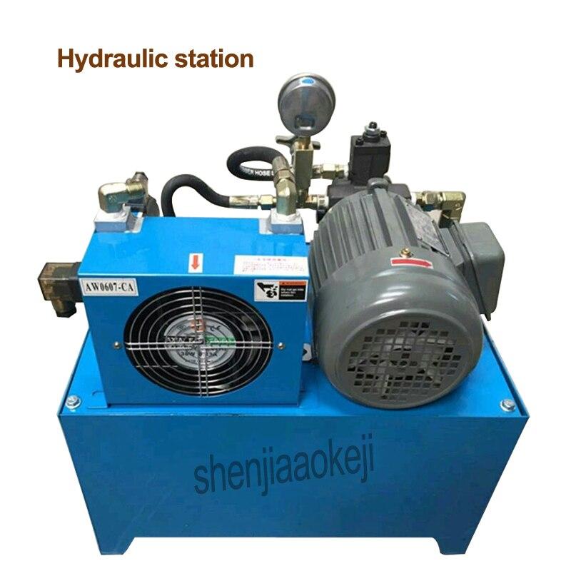 220v hydraulic station hydraulic system pump 750W/1500W hydraulic oil pump station  take nutrilite shaft 40L air cooling