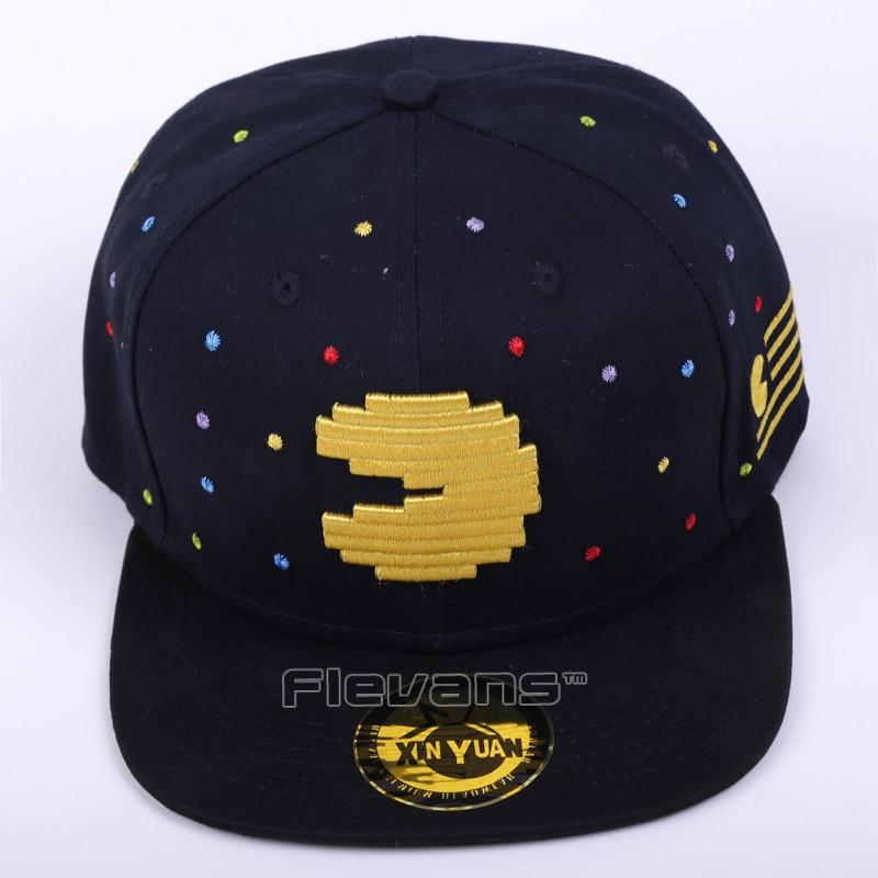 Pacman Snapback Hat & cap fashion Adjustable Ghost And Pac Man Baseball Cap Unisex 2 Styles