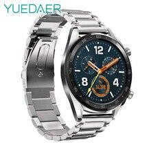Bracelet YUEDAER à dégagement rapide en métal pour montre Huawei GT/GT Bracelet actif en acier inoxydable Bracelet pour Huawei GT Bracelet de montre en métal