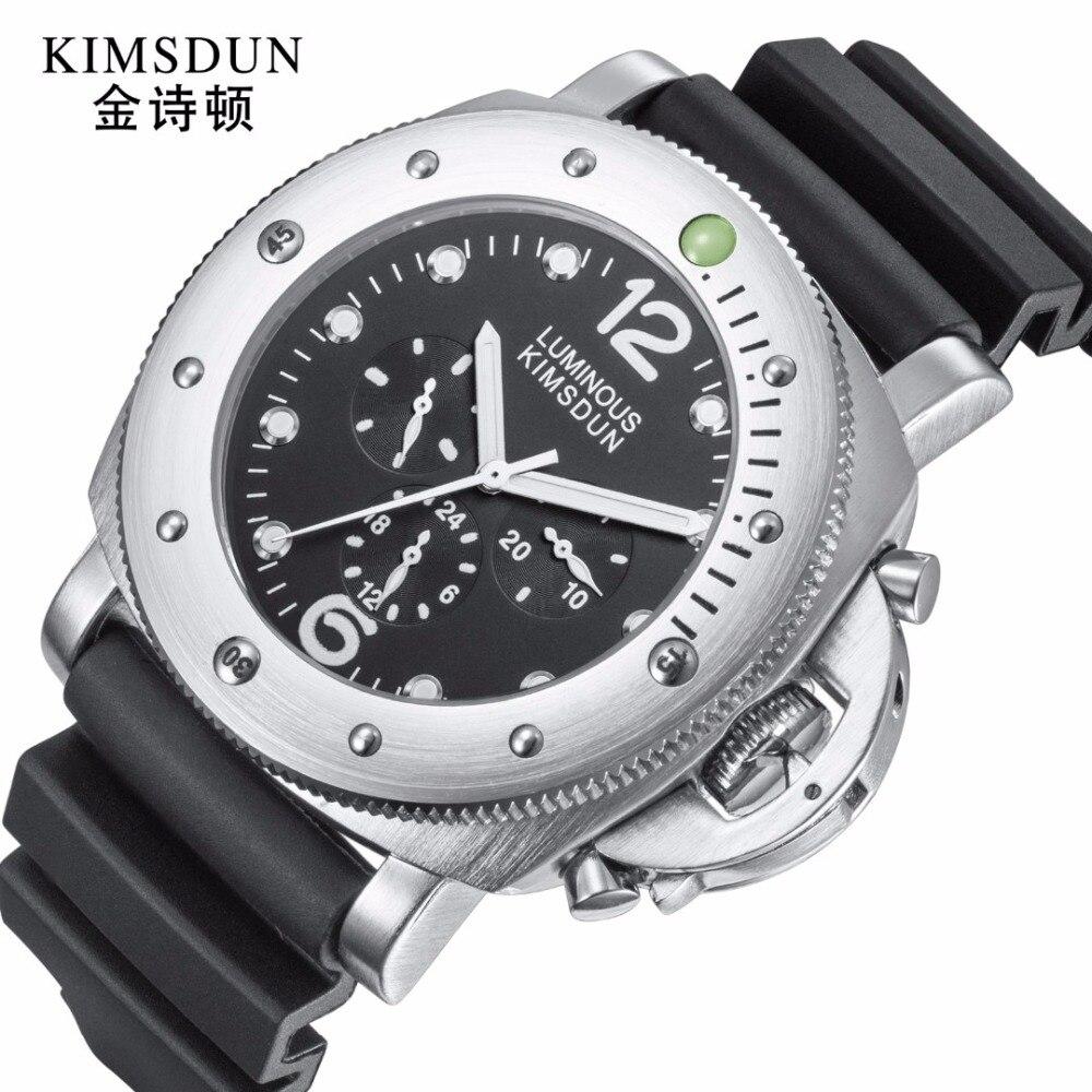 KIMSDUN-ساعة رياضية ميكانيكية للرجال ، ساعة يد رجالية ، كاجوال ، رياضية ، مقاومة للماء ، ماركة فاخرة ، 2019