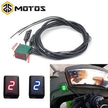 ZS MOTOS Neueste Universelle Wasserdichte Motorrad ATV Fahrzeuge Digital Getriebe Anzeige LED Display Monitor Schalthebel Sensor Motor
