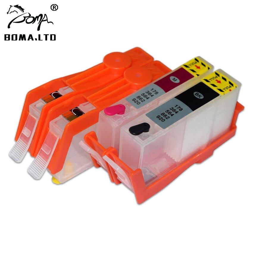 BOMA. LTD más nuevo 905 para Cartucho de recarga de tinta HP905 con Chip de reinicio automático permanente para HP OfficeJet 6950 6960 6968 6970 6979