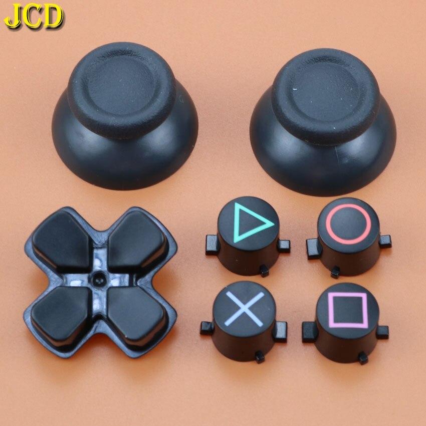 JCD 1Set Analog Joystick Grip Cap ABXY X D-pad Buttons Set Ersatz für Sony Playstation4 Dualshock 4 DS4 für PS4 Controller