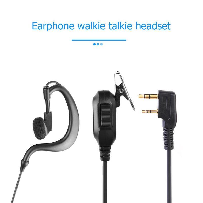 G Forma Fone de Ouvido Fone de Ouvido-tipo K M-tipo com Microfone PTT para Kenwood KPG 5R Baofeng UV Rádio 2Pin Para para Motorola HYT Walkie
