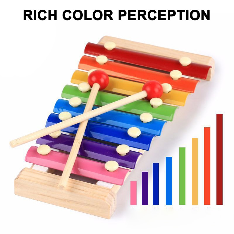 Los niños en edad preescolar Piano octava de madera juguete xilófono música juguete NSV775