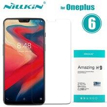 Nilkin para OnePlus 6 protector de pantalla de vidrio templado Nillkin Amazing H + Pro película protectora de vidrio transparente para One plus 6 1 + 6 A6000