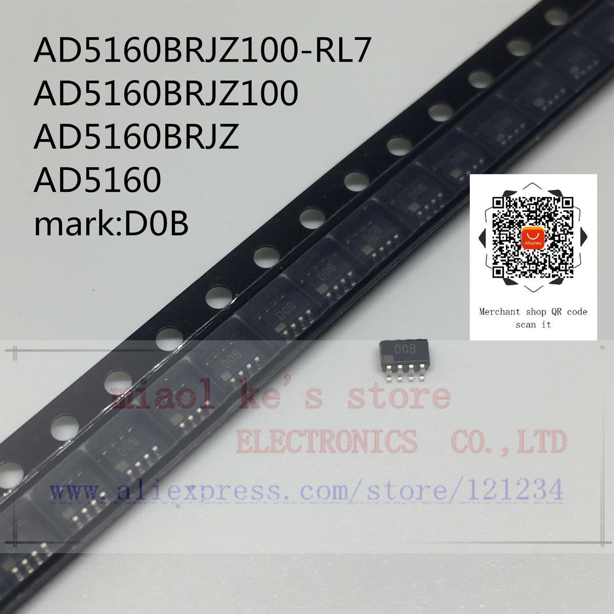 (5 uds ~ 10 uds) 100% nuevo original; AD5160BRJZ100-RL7 AD5160BRJZ100 AD5160BRJZ AD5160 marca D0B [100k 2,7 V ~ 5,5 V]-IC olla DGTL SPI 256POS