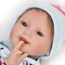 Boneca reborn bebe realista poupée 22 pouces 55 cm corps souple silicone reborn bébé fille poupées jouets pour enfant cadeau danniversaire poupee