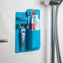 New Arrivals Silicone Bathroom Organizer Mighty Toothbrush Holder Silicone Toothbrush Holder for Bathroom Supplies Tools F0493