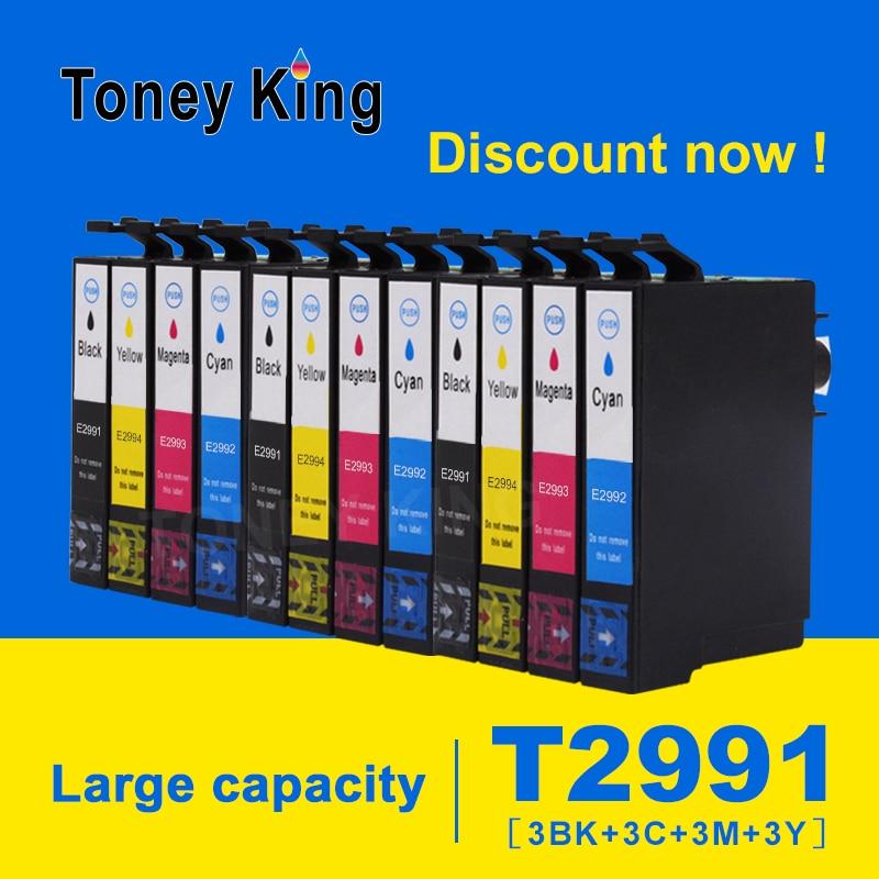 Toney Re 3 Set Cartuccia di Inchiostro Compatibile T2991 29 Per Epson 29XL Per Epson XP 235 332 432 247 442 342 345 Inchiostro Della Stampante