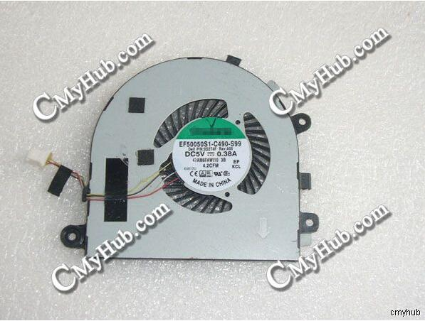 Genuino para SUNON EF50050S1-C490-S99 0D2T4F D2T4F Rev A00 47AM6FAWI10 DC5V 0.38A 4pin 4 Alambre de ventilador de refrigeración