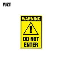 Yjzt 7 Cm * 10.5 Cm Grappige Waarschuwing Niet Voer Auto Sticker Decal Pvc 12-0997