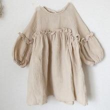 Robes dété pour bébés filles   Vêtements de printemps, en lin, à volants, style princesse, japon, nouvelle collection 2019