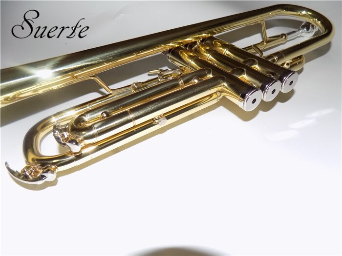 B flat Bb Trumpet musical instruments for Beginners Brass Trumpets Lacquer silver plated with case mouthpiece enlarge
