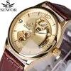 Seworยี่ห้อวิศวกรรมอัตโนมัติด้วยตนเองลมโครงกระดูกนาฬิกาแฟชั่นลำลองผู้ชายนาฬิกาหรูนาฬิกาสา...