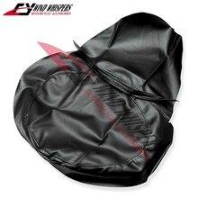 Funda de asiento de cuero PU negro para motocicleta, funda de asiento impermeable para Honda VF250 Magna 250