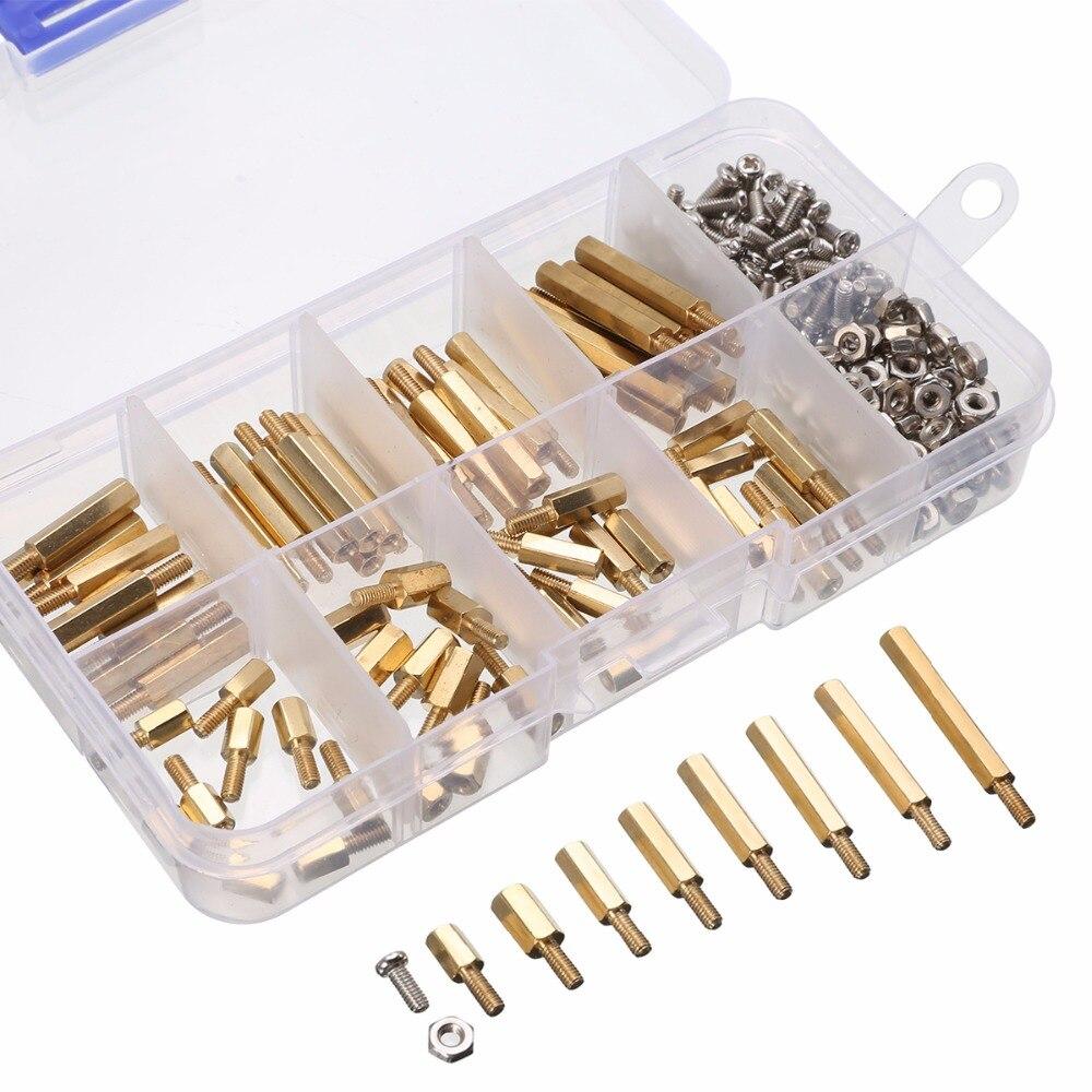 240 unids/set M2.5 macho hembra separador Hex kit surtido de tuercas de tornillo para Raspberry-Pi Spacer