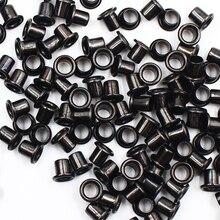 100pc noir Antique Scrapbook oeillets intérieur 5mm oeillets en métal pour Scrapbooking embellissement vêtement vêtements oeillets couture