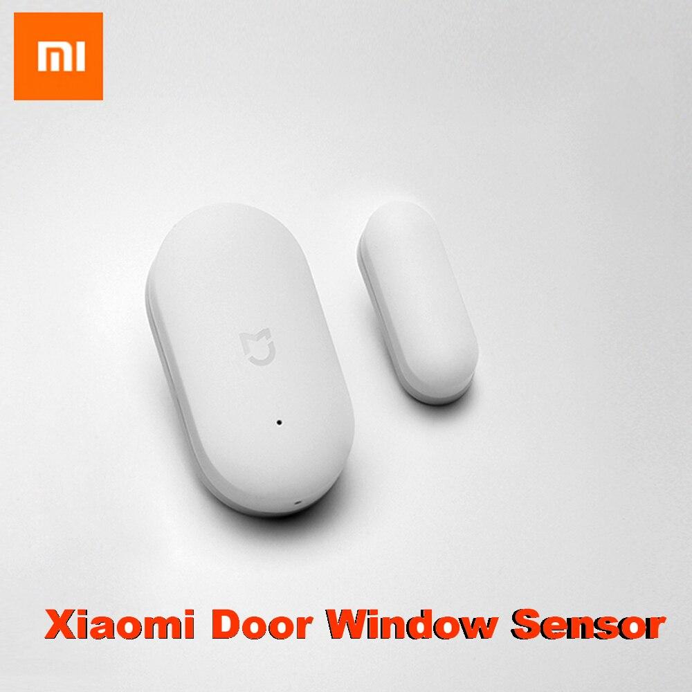 Sensor de ventana de puerta xiaomi Original tamaño bolsillo xiaomi kits de hogar inteligente sistema de alarma funciona con puerta de enlace mi jia mi aplicación para hogares