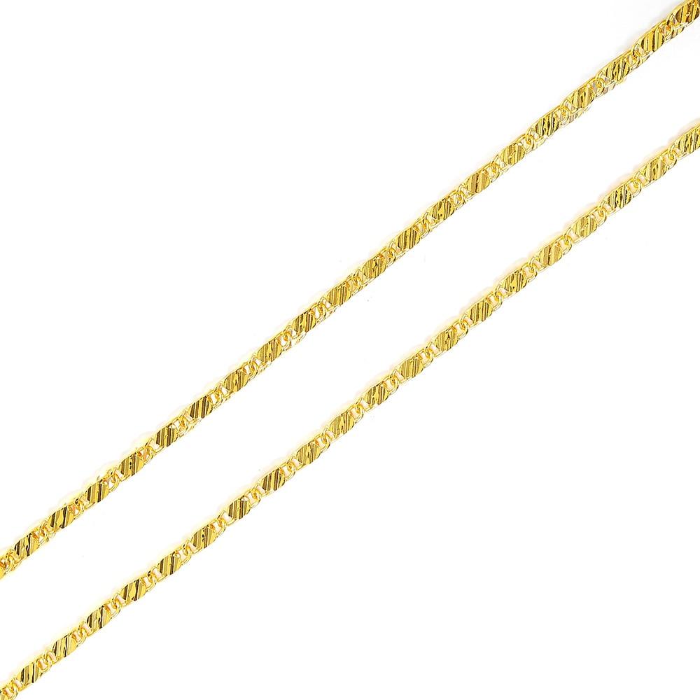 1 шт. 2 мм Ожерелье Wo мужское длинное ожерелье 585 золотистый/серебристый гладкая цепочка Ювелирные изделия 40/45/50/55/60/70/75 см