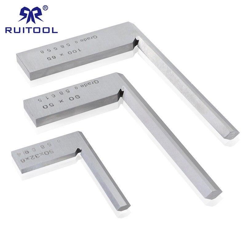 Ângulo de 90 graus régua quadrada 50*32/90*50mm/100*65 de aço inoxidável marcação calibre grau 0 lado estreito