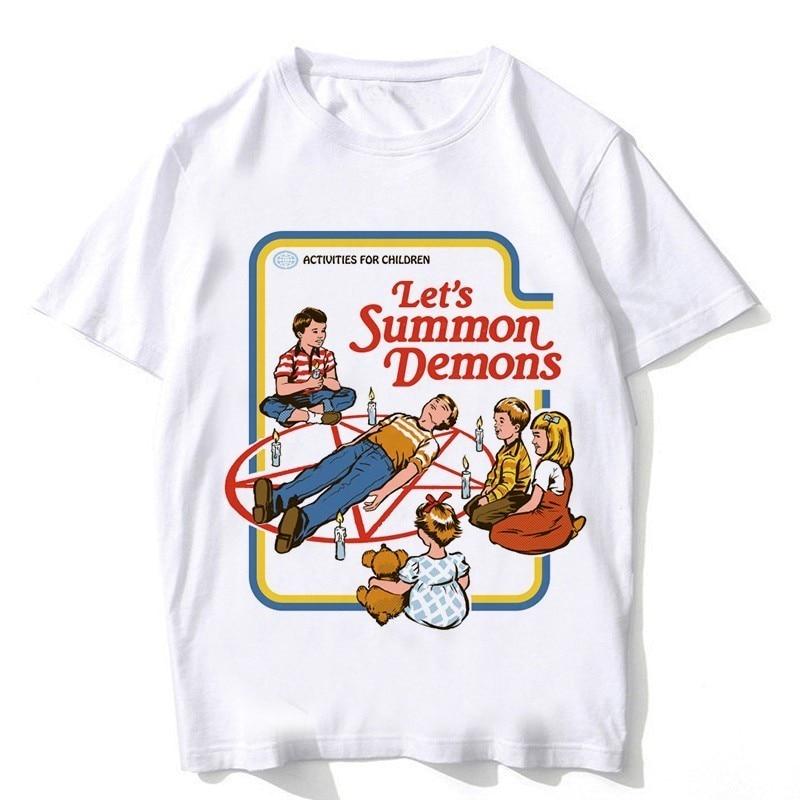 2018 summer ouija Tshirt men satan shirt scary evil demon death alien grim reaper male T-shirt american horror story T shirt