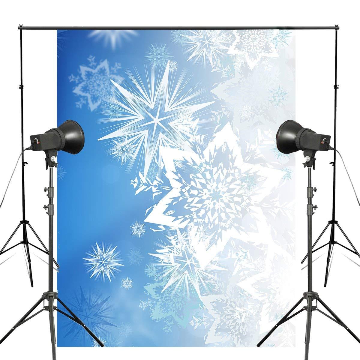 5x7 pies hermosos copos de nieve fotografía telón de fondo azul niños foto estudio fotografía pared de fondo