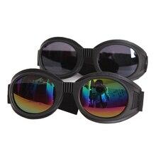 WWII 빈티지 스타일 오토바이 고글 파일럿 오토바이 고글 레트로 제트 헬멧 안경 4 색 렌즈