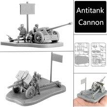 4D 1: 72 Scenario PAK40 M30 M1938 MODELO DE MONTAJE antitanque cañón ensamblaje juguetes rompecabezas bloques de construcción de juguete modelo