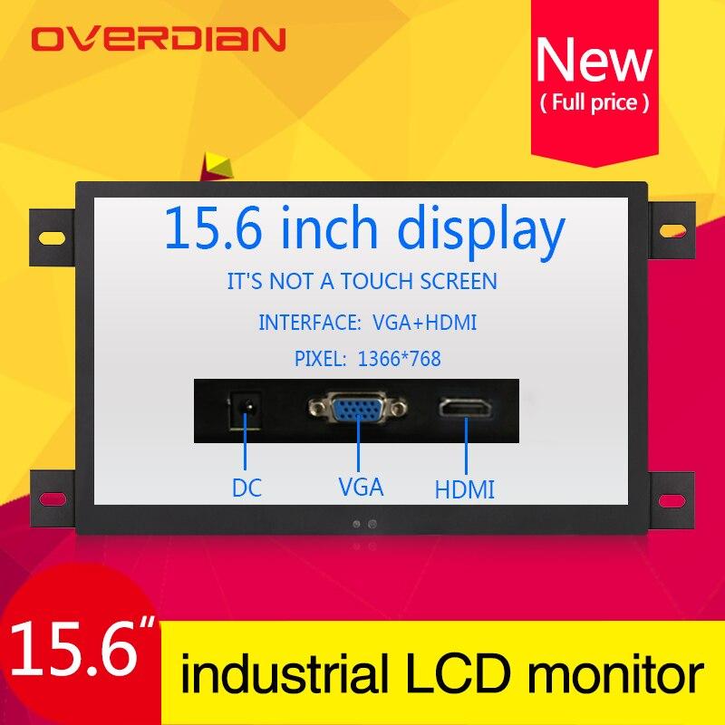 """15,6 """"/15"""" VGA/HDMI/interfaz de Control Industrial Lcd Non-monitor táctil carcasa de Metal Emedded Frame1366 * 768"""