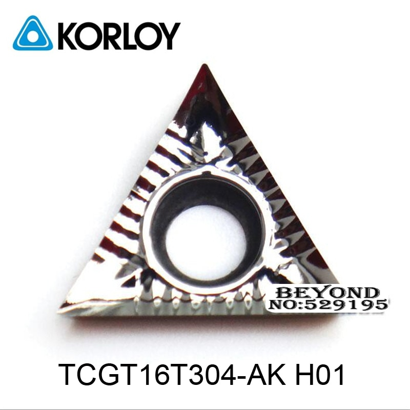 Original Korloy TCGT16T302-AK TCGT16T304-AK TCGT16T308-AK H01 Carbide Inserts TCGT 16T302 16T304 16T308 Process Aluminum Copper