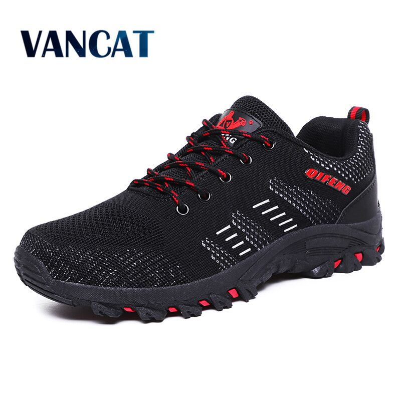 Vancat 2019 New Brand Men's Shoes Breathable Mesh Men Casual Shoes  Outdoor Comfortable Sneakers Fashion Flats Plus size 39-47