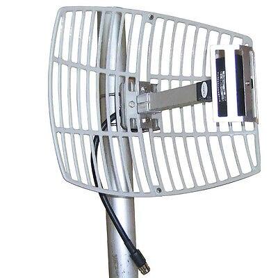 Populares largos 17dBi 2,4G WIFI rejilla antena parabólica inalámbrica N hembra