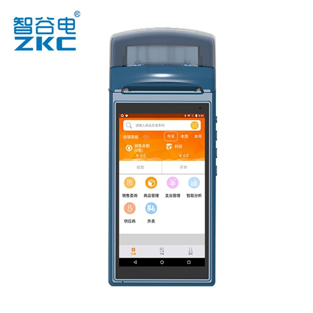 Pos móvil, pantalla táctil de 5,5 pulgadas, impresora pos integrada con escáner, aplicación pos loyverse