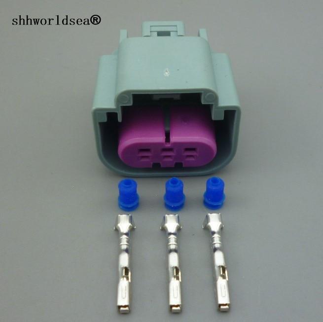Shhworldsea 3 pin Conector automotriz Sensor de combustible flexible automático enchufe del Sensor de nivel de aceite GT 150 para enchufe de Conector automotriz BMW