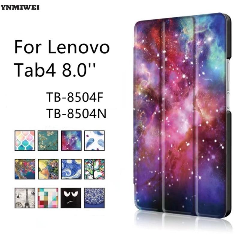 Кожаный чехол для Lenovo Tab4 8 ТБ-8504F TB-8504N ультратонкий умный чехол для планшета Lenovo Tab 4 8,0 защитный чехол + защита