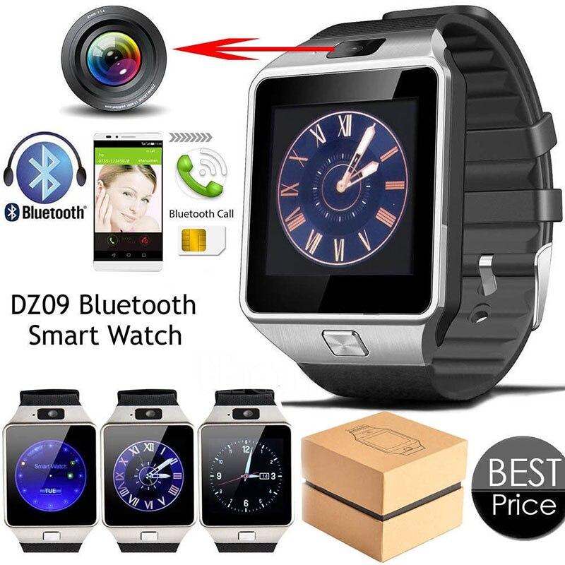 Reloj inteligente con Bluetooth 2020 para hombre, reloj inteligente Digital deportivo DZ09, podómetro para Smartphone Android